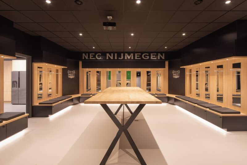 Upgrade kleedkamer & spelershome N.E.C. Nijmegen